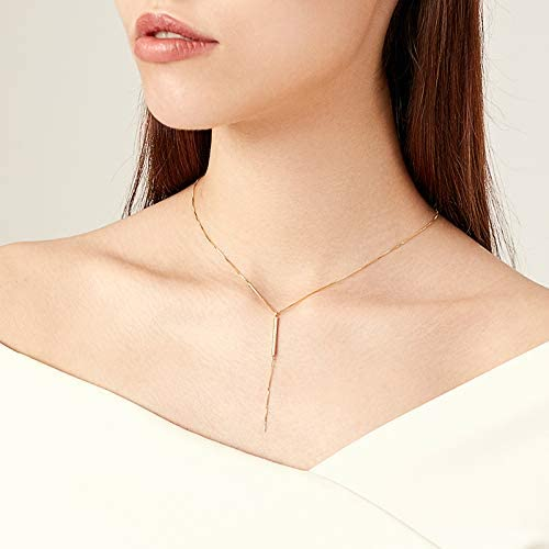 ZXS Plata Pura Oro Rosa Claro Desvanece Collar Cadena Femenina De La Clavícula Cadena Simple del Cuello del Temperamento  OM17L2