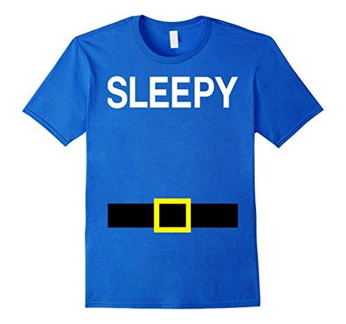 Mens Sleepy Dwarfs Names Halloween Group Costume TShirts Matching 3XL Royal Blue
