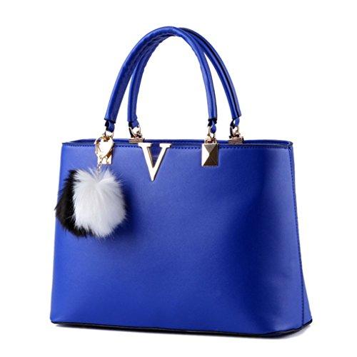 Del De Grande Con Laozan Puro Color Bolso Cielo Capacidad La Hombro Rojo Azul Las Accesorios Mujeres qPA0HI