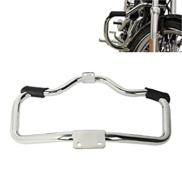 ROWEQPP Motorcycle Engine Guard Highway Crash Bar Replacement for Harley Sportster XL 883 XL 1200 04-18 Plating