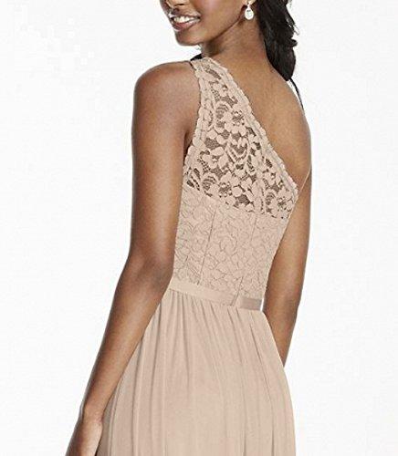 line One Shoulder Gown Chiffon Prom Beauty Bridesmaid Dresses Women's AK A Mint 7xTZTH