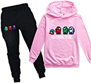 Among Us Impostor Kids Hoodie Sweater and Sweatpants Tracksuit Sets for Boys Girls Casual 2 Piece Sweatshirt S