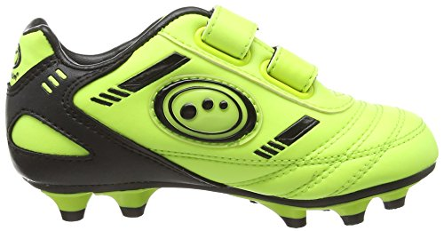 OptimumTribal Velcro Moulded Zapatillas de Fútbol, Niños Amarillo (Yellow/Black)