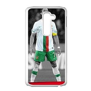 HRMB Soccer Portugal Cristiano Ronaldo White Phone Case for LG G2