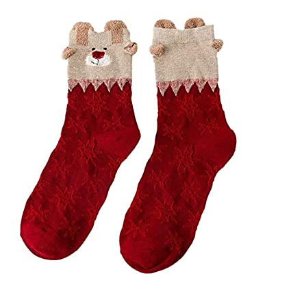 Christmas Women Cotton Socks Multi-Color Women Winter Socks Calcetines Women Socks Christmas Socks -