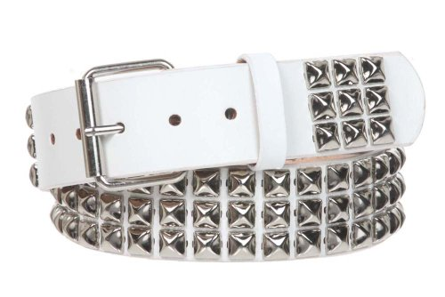 Classic Studded Leather Belt (1 3/4