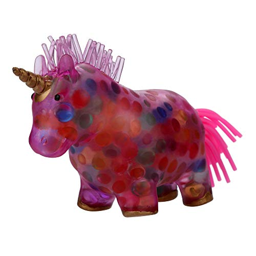 Mikilon Big Slow Rising Squishy Toy, Unicorn Rainbow Bead Stress Ball Toy Squeezable Squishies Toy Stress Relief Toy or Kids Party Toys Stress Reliever Toy