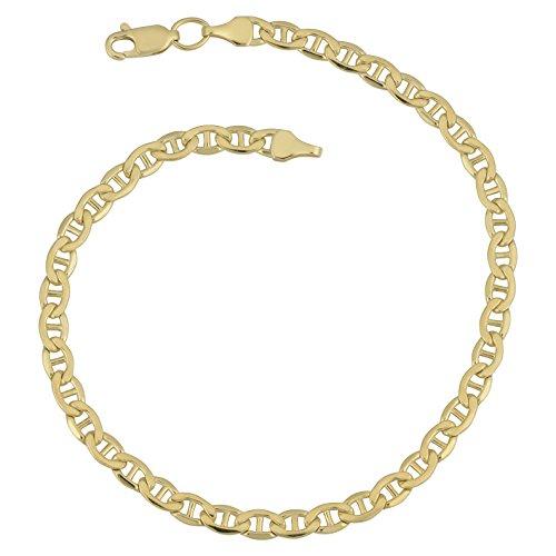 14k Yellow Gold Filled 4.15mm Mariner Link Bracelet (7.5 inch)
