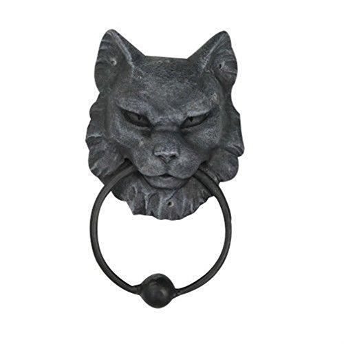 Gargoyle Ball (Ky & Co YesKela Cat Head Gargoyle Door Knocker Figurine Home Decor 7