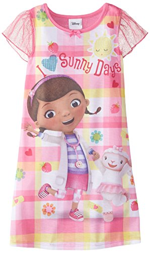 Disney Girl's Doc Mcstuffins Sunny Days Gown, Pink, 4T