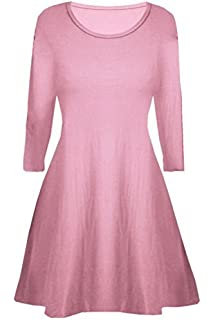 45c588b3d3 Fashion Oasis Girls Skater Plain Long Sleeve Summer Swing Dress Ages ...