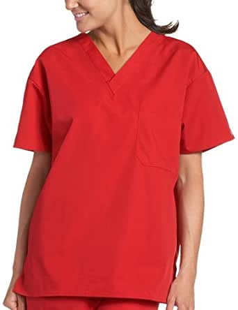 Dickies Women's Everyday Scrubs (EDS) V-Neck 1 Pocket Top,True Red,X-Small