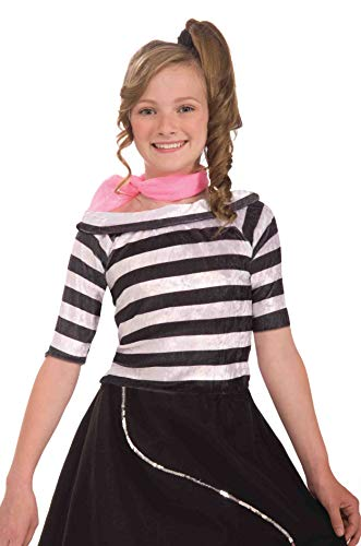 Forum Child 50's Sock Hop Top, X-Large, Black/White -