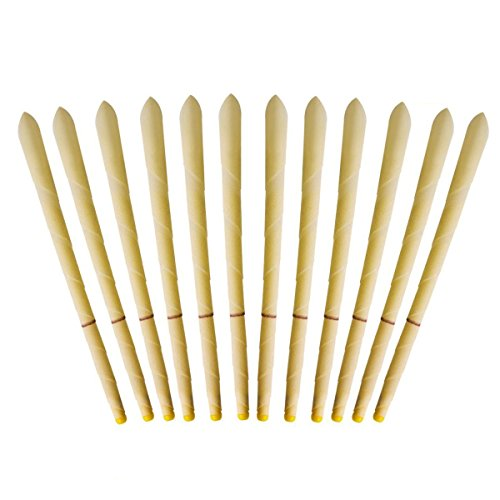 Lllmbwa Beeswax Candling Cones - 100% All-Natural Unscented Candles Taper 12 Packs