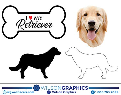(Retriever - Dog Breed Decals (Set of 16) - Sizes in Description)