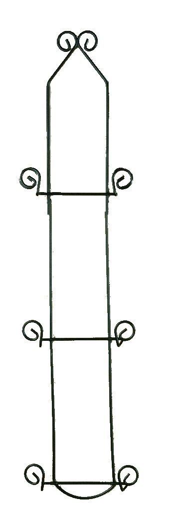 Tripar - Economy 3 Tier Black Vertical Plate Rack Holder