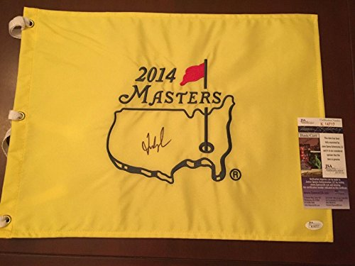 (Fred Couples Signed MASTERS FLAG MASTERS CHAMPION LETTER Of AUTHENTICITY - JSA Certified - Autographed Golf Pin Flags )