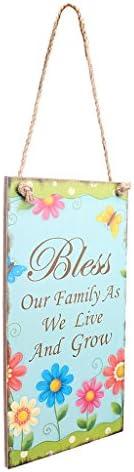 イースター ヴィンテージ 木製 家 ドア 壁掛け 家族の祝福 飾り付け デコレーション