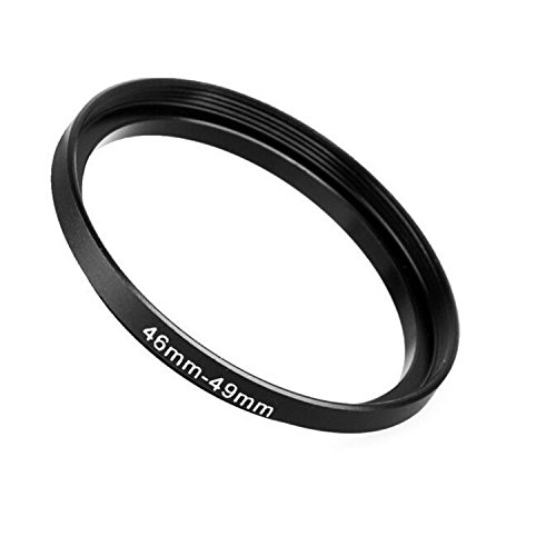 Fotodiox Metal Step Up Ring Filter Adapter, Anodized Black Aluminum 46mm-49mm, 46-49 mm