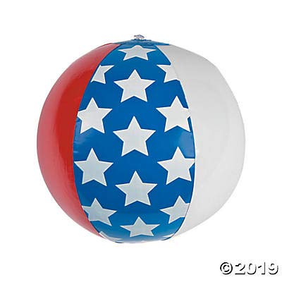 Awesome Set of Three (3) Inflatable Patriotic Beach Balls 11