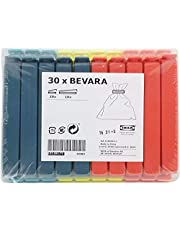 مشبك إغلاق بيفارا من ايكيا 700.832.52 ، ألوان متنوعة ، مقاسات متنوعة ، 90 قطعة