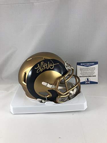 Kurt Warner Autographed Signed St Louis Rams Mini Helmet Signature - Beckett Authentic