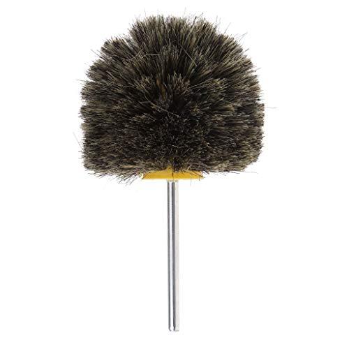 Flameer 100mm Polisher Buffer Wheel Polishing Buffing Pad Sisal/Horse/Pig Hair Brush Kit for Cleaning,Deburring,Grinding - Pig Hair ()