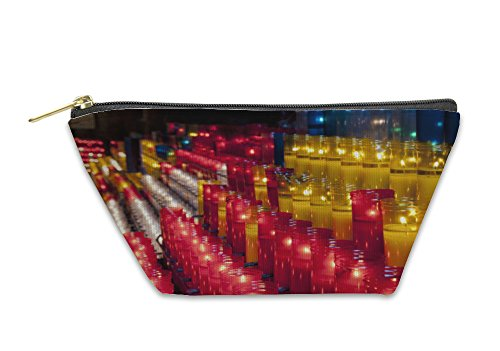 Gear New Accessory Zipper Pouch, Church Red Yellow And White Votive Candles Montjuic Barcelona, Large, 5411242GN by Gear New