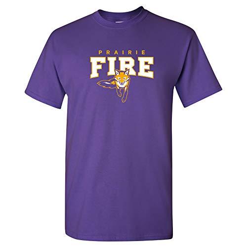 Fire Logo Shirt - AS03 - Knox College Prairie Fire Arch Logo T-Shirt - Large - Purple