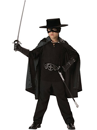 InCharacter Costumes Boys 2-7 Bandido Cape  Costume, Black, Small