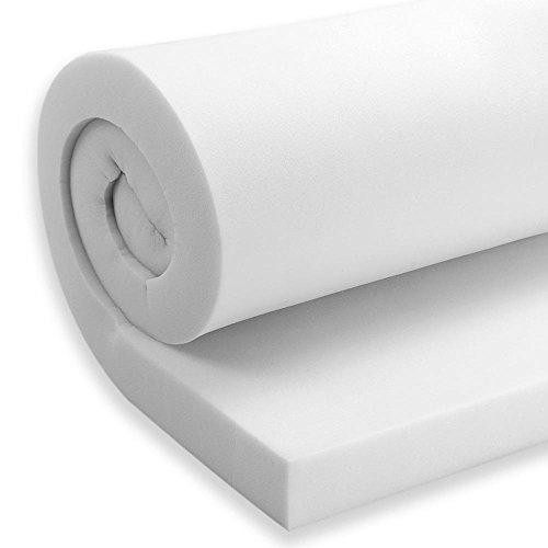 AK TRADING CO. Upholstery Foam Cushion, High Density Foam Sheet - Made in USA, 6 x 30 x 72