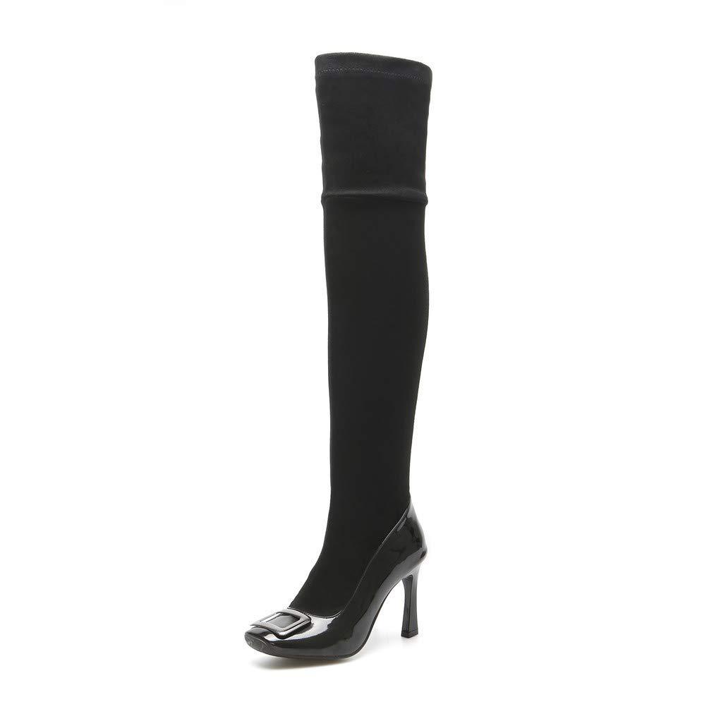 Bottes Femme Black | Bottes Bottines | Bottes tête au Genou, Talons Hauts, Bottes à tête Plate. Black 83dabe5 - boatplans.space