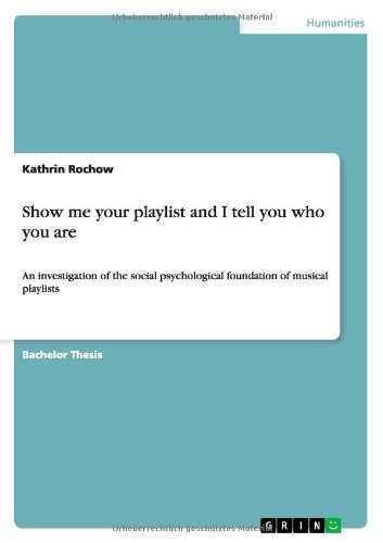 Show me your playlist and I tell you who you are: An investigation of the social psychological foundation of musical playlists