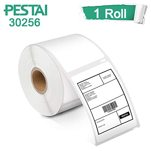 PESTAI Compatible Standard Large White Shipping Labels Replacement for DYMO 30256 2-5/16'' x 4''(59mm x 101mm) for Labelwriter 450 330 400 Duo Twin Turbo Printers, ( 1 Roll, 300 Labels per Roll) ()