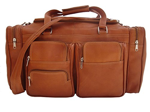 piel-leather-20-duffel-bag-with-pockets-in-saddle