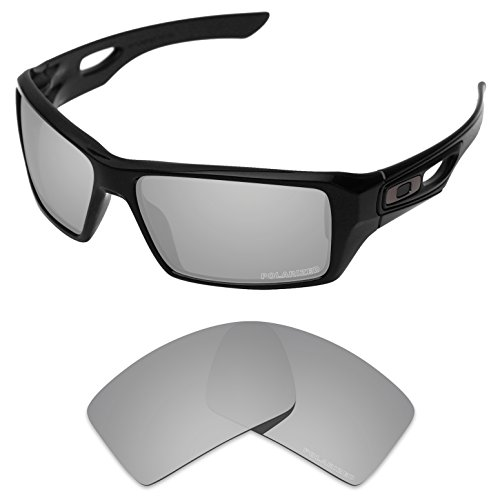 Tintart Performance Replacement Lenses for Oakley Eyepatch 1&2 Sunglass Polarized Etched-Silver Metallic by Tintart