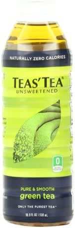 Teas' Tea Unsweetened Green Tea, 16.9 Ounce (Pack of 12) Packaging May Vary