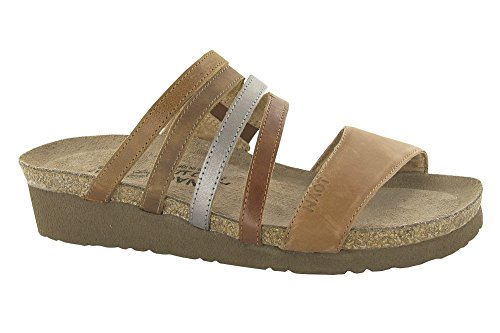 9 Sandals Women's 3 MULTI Naot M Peyton Wedge Slide Heel BROWN CxRgwqT