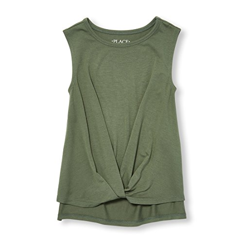(The Children's Place Big Girls' Basic Fashion Tank Top, Garden CRESS 97741, S (5/6))