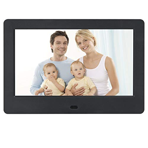 M MUNCASO 7 Inch Digital Photo Frame 1024600 LCD Display(16:9), 1080P Video/Audio Support with Remote Control