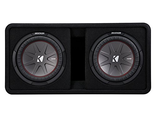 "Kicker 10"" 1600W 2-Ohm Vented Dual Loaded Car Enclosure Subwoofers 