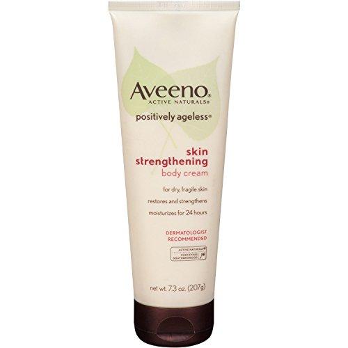 Aveeno Positively Ageless Skin Strengthening Body Cream, 7.3 Ounce Pack of 5