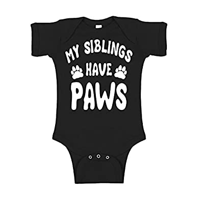 Mad Ink Fashions Siblings Have Paws Novelty Infant Baby Unisex Bodysuit
