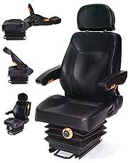 D+L GmbH Tractorstoel sleepstoel met vering 56007 armleuning rugleuning trackerstoel AWZ