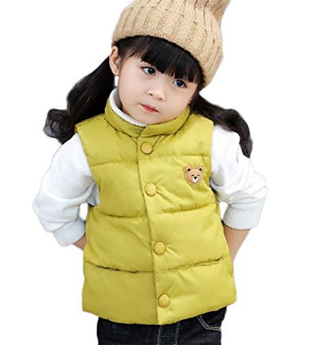 LANBAOSI Baby Girls&Boys Winter Cute High Neck Vest Lightweight Puffer Sleeveless Jacket by LANBAOSI