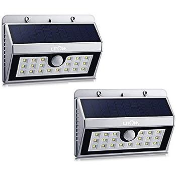 Litom 20 Led Solar Lights Outdoor Enhanced Ip65
