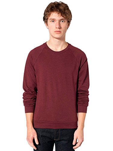 (American Apparel Men California Fleece Raglan Size XL Truffle)