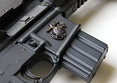 Tactical Freedom - Magwell Metal Decal / Sticker - USMC Emblem
