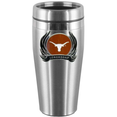 NCAA Texas Longhorns Steel Flame Logo Travel Mug and the school should be Texas (Flame Logo Mug)