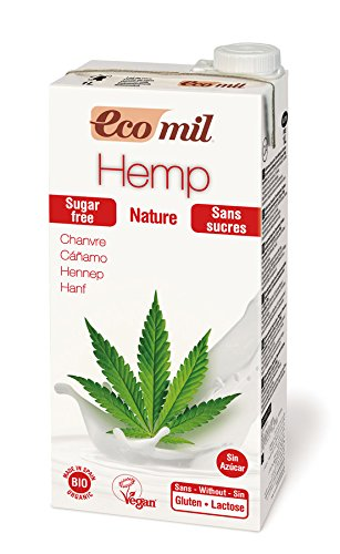Ecomil Organic Hemp Milk Sugar Free 1Ltr (Pack of 6)